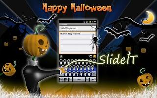 Screenshot of SlideIT Happy Halloween Skin