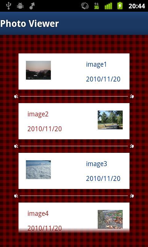 Layout CookBook デモあぷり- screenshot