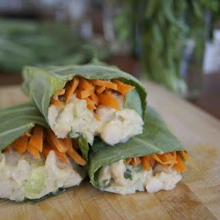Collard Green Wrap with Lemony White Bean Salad Recipe