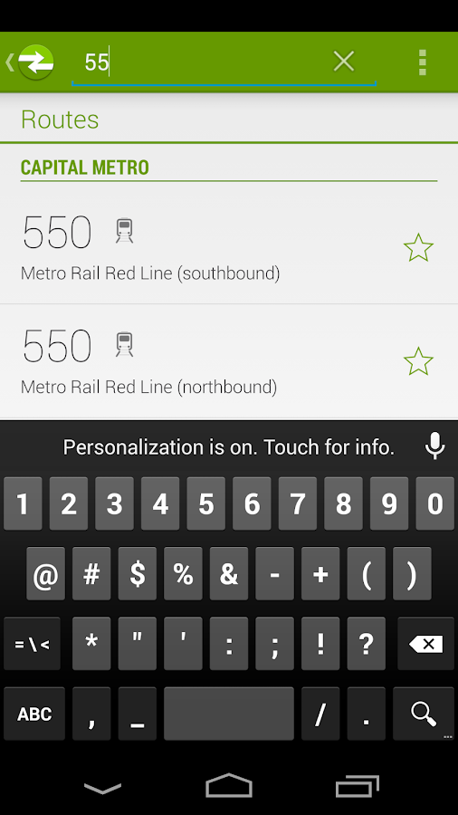 TripMate Austin Transit App- screenshot