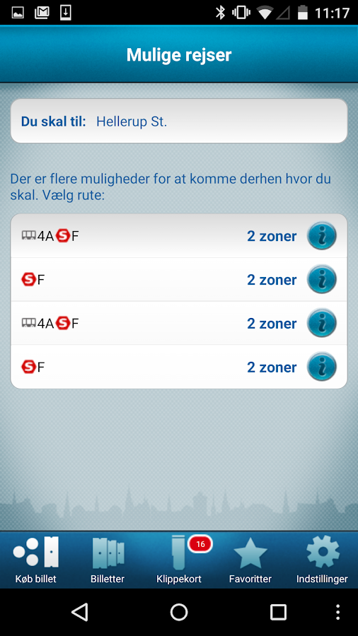 DOT Mobilbilletter- screenshot