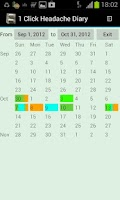 Screenshot of 1Click Headache Diary