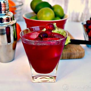 Cranberry Cosmopolitan Cocktail & NEW Blog Design!