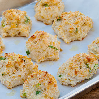 Cheddar, Garlic and Green Onion Biscuits.