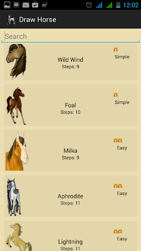 How Draw Horses