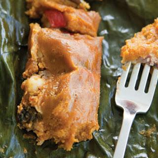 Pasteles (Green Banana and Pork Tamales).