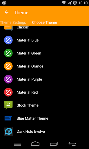 EvolveSMS Theme Blue Matter