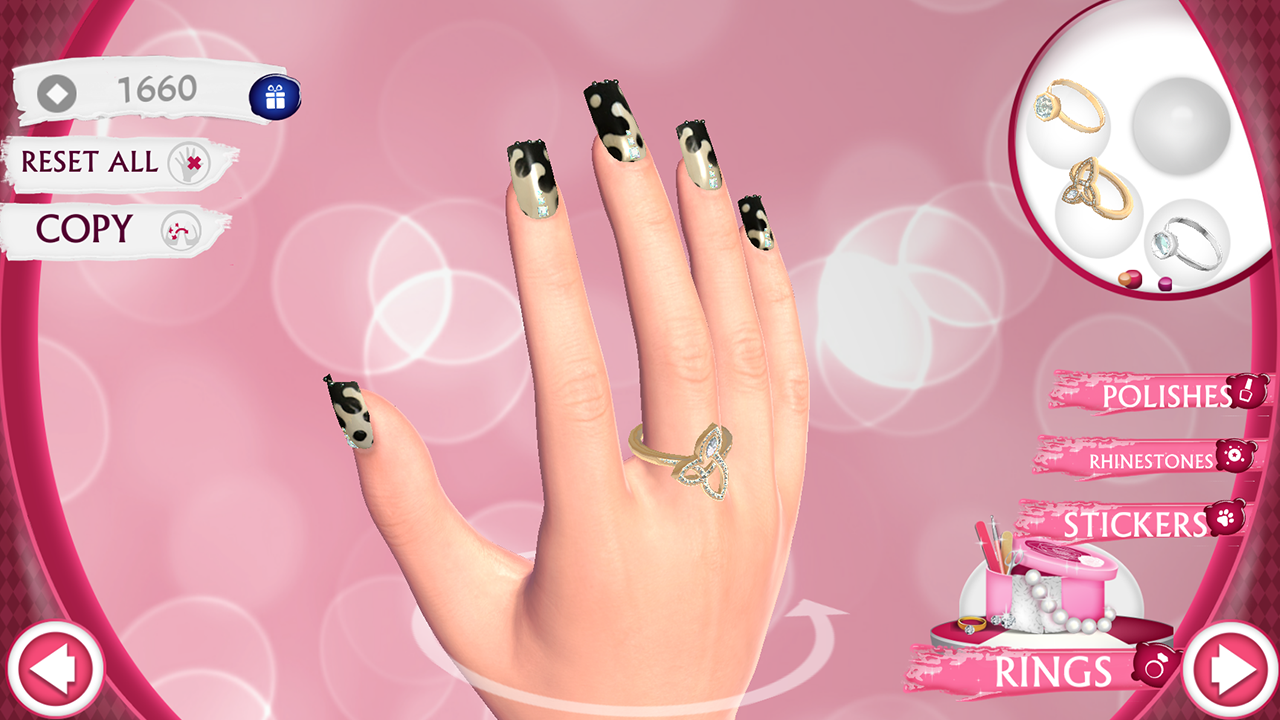 Cute Nail Art Designs Game 3D - screenshot