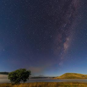 Moonlight by Matt Green - Landscapes Starscapes ( milkyway, stars, landscape, panorama, moonlight, nightscape,  )