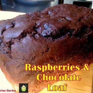 Raspberry Chocolate Loaf.