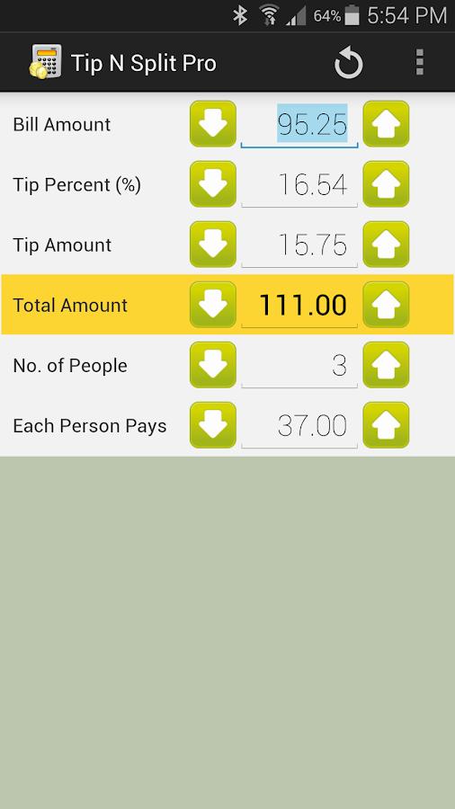 Tip N Split Pro - screenshot