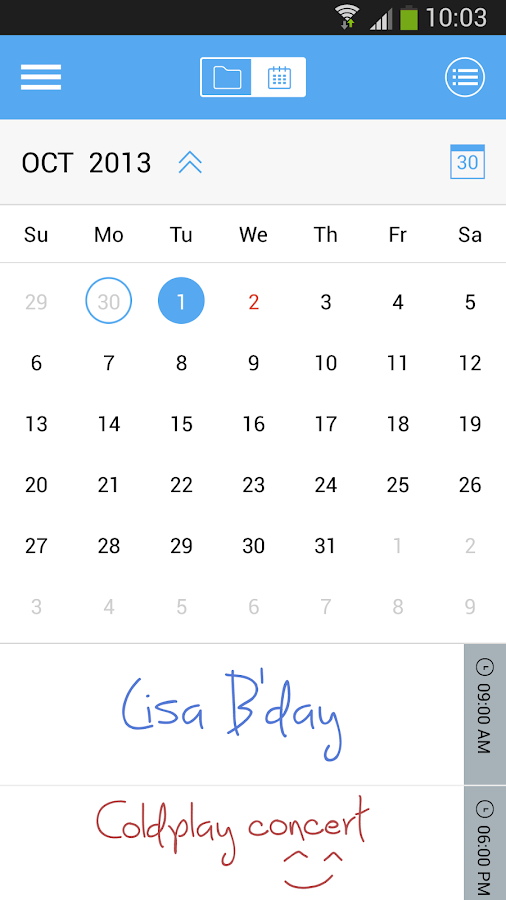 JusWrite Stylus Task Organizer - screenshot