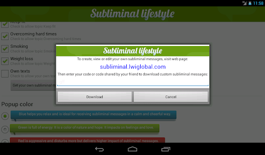 Subliminal Lifestyle - screenshot thumbnail