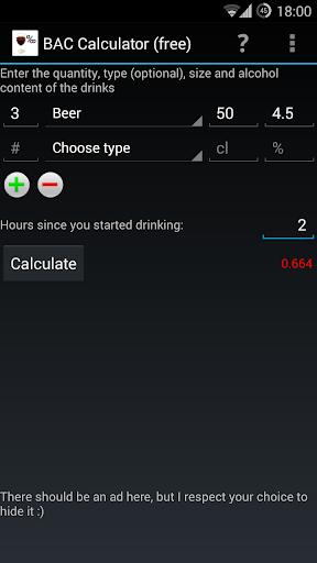 BAC Calculator free