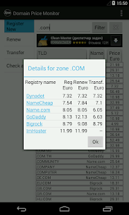 Domain Prices Monitor - screenshot thumbnail