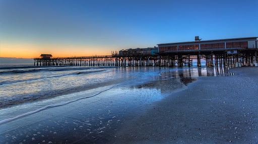 Cocoa Beach Pier at dawn.