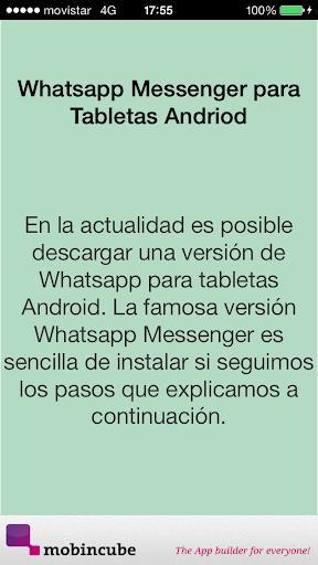 Descargar Whatsapp en tableta