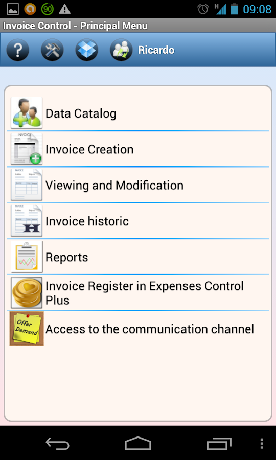 Invoice Control - screenshot