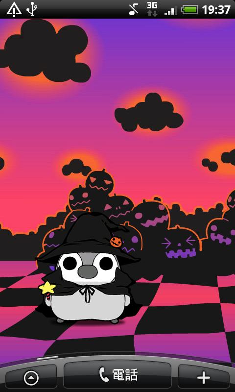 Pesoguin LWP Halloween Penguin- screenshot