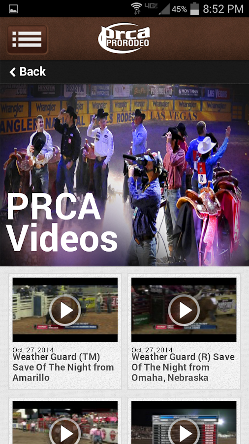 PRCA ProRodeo- screenshot