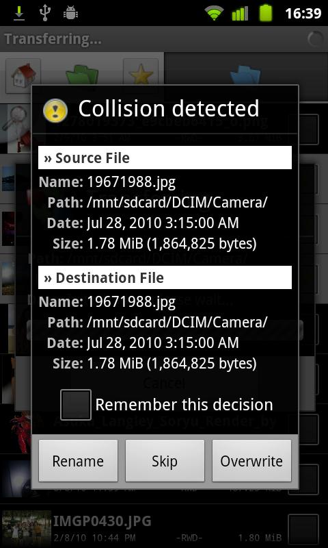 Dual File Manager XT- screenshot