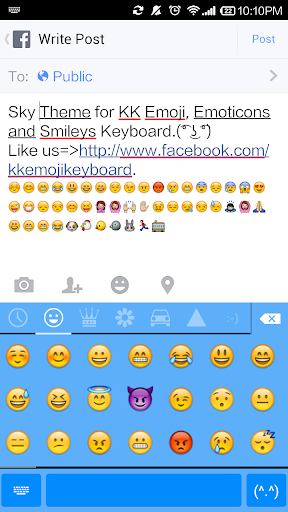 Pure Sky- Emoji Keyboard