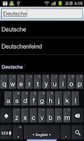 Screenshot of Deutsch Wörterbücher