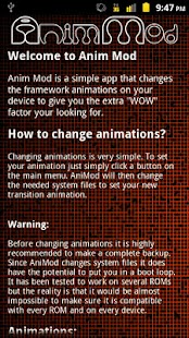 Anim Mod *Root* - screenshot thumbnail