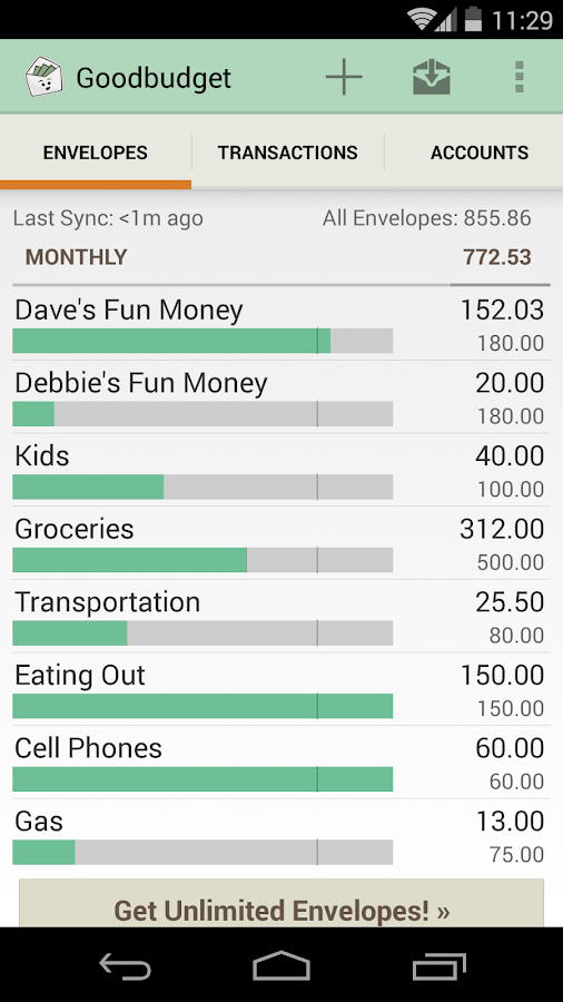 Goodbudget: Budget & Finance- screenshot