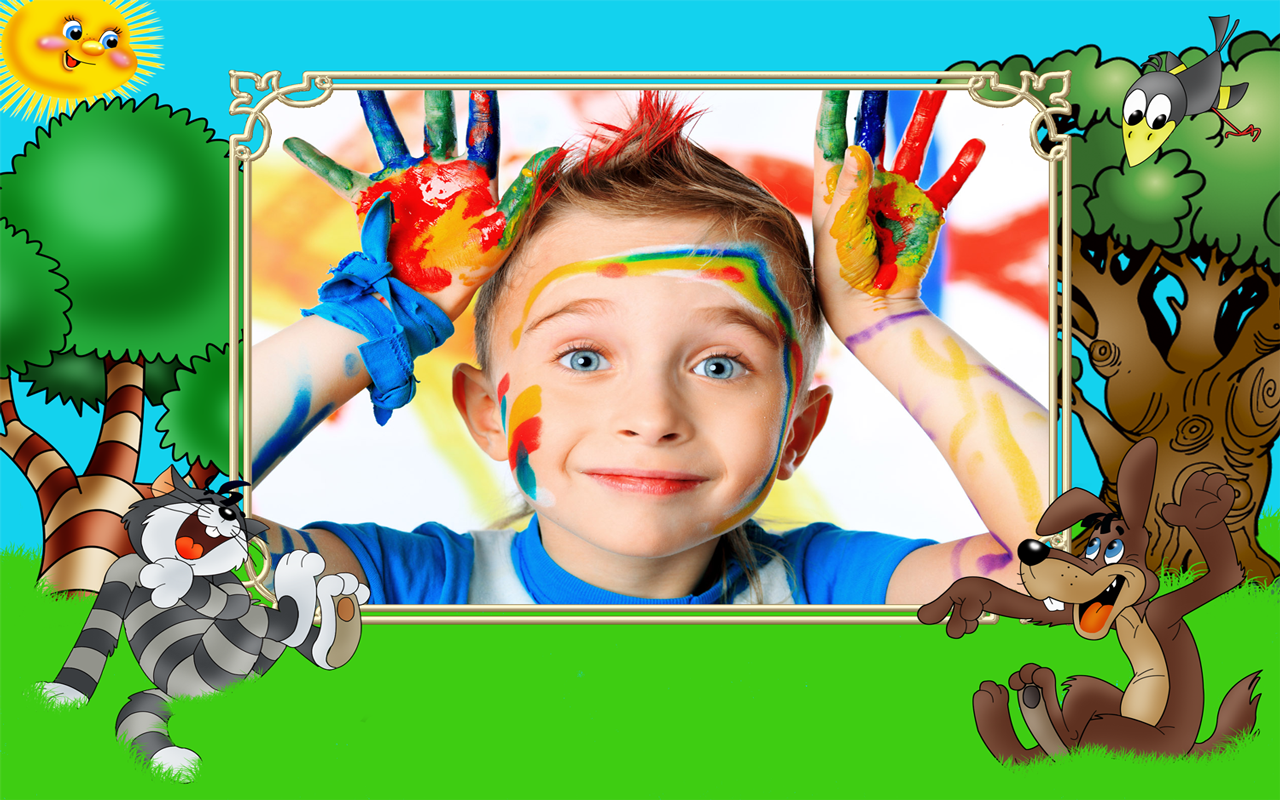 Funny Kids Photo Frames Apl Android Di Google Play