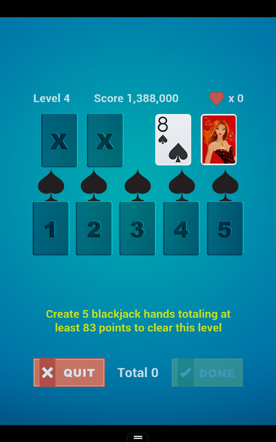 Play blackjack solitaire