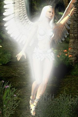 3D Angel background - screenshot
