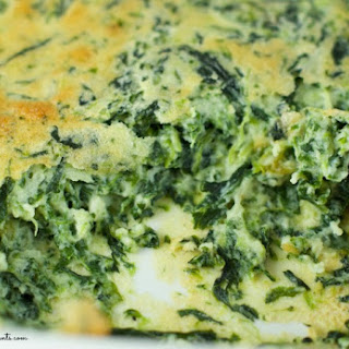 Easy Spinach Souffle.
