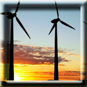 Windmills at Sunset LWP