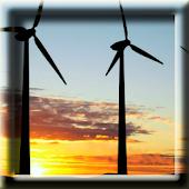 Windmills at Sunset LWP