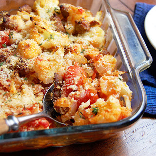 Sausage and Cauliflower Casserole