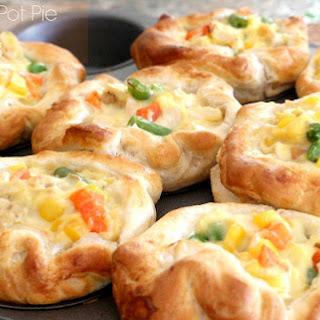 Easy Chicken Pot Pie Puffs.