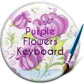 Purple Flowers Free Keyboard