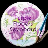 Purple Flowers Free Keyboard