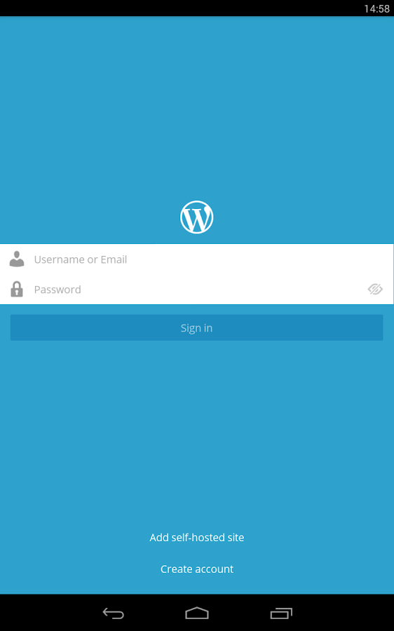 WordPress - screenshot