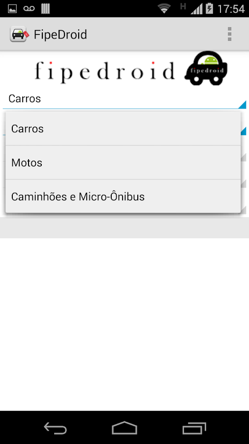 FipeDroid - screenshot