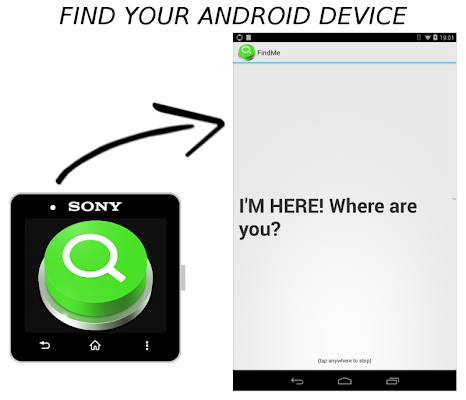 Find Me 2in1 for SmartWatch 2 - screenshot