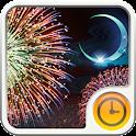 Gekka Hanabi Clock Widget