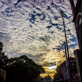Clouds by Neel Gengje - Landscapes Cloud Formations ( clouds, awesome, cloud, sunrise, sun )