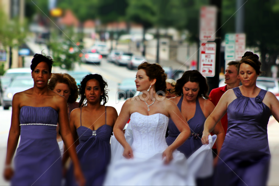 Get me to the Church on Time! by Darlene Lankford Honeycutt - Wedding Groups ( bridal party, deez, dl honeycutt, streets, candid, bride )