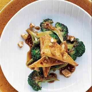 Tofu and Broccoli Stir Fry.
