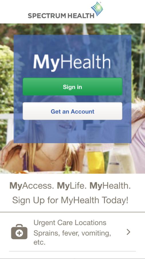 Spectrum Health MyHealth- screenshot