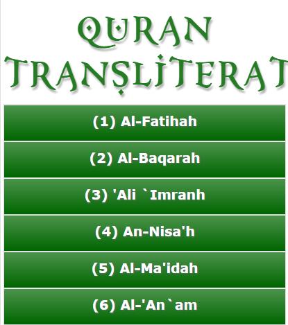 Quran Transliteration