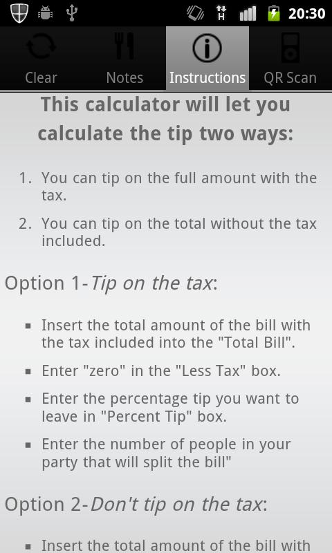 Ultimate Tip Calculator- screenshot