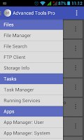 Screenshot of Advanced Tools